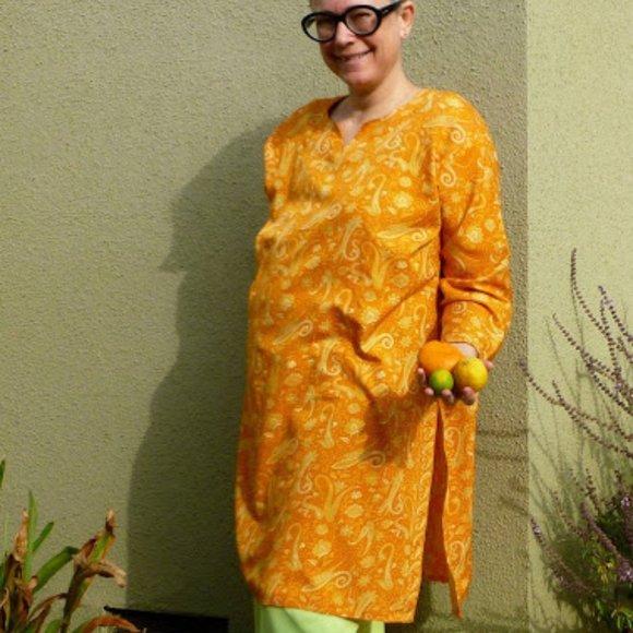 Orange Paisley Tunic